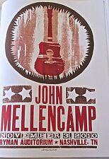 John Mellencamp Mini-Concert Poster Reprint for 2010 Nashville Tenn 14x10
