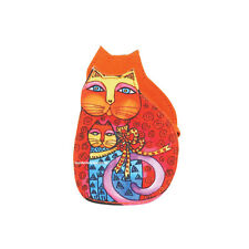 Laurel Burch Cutout Cat Kitten Mother Daughter Coin Purse Multi & Orange Nw 2020