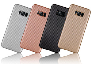 BUY 1 GET 1 FREE Samsung Galaxy S8 Carbon Fiber Pattern Case Soft Rubber TPU