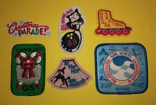 Girl SCOUT Boy Cub PATCHES Christmas Bowling Skating At Hop Crests Badges GUIDE