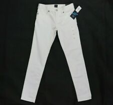 Gap Girls Denim Jeans Pants Stain Resistant Super Slim Stretch White 6 7 8 14