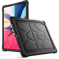 "For Apple iPad Pro 12.9 (2018) Case Poetic TurtleSkin ""Shockproof"" Cover Black"