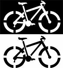 Mountain Bike Bicycle Pick Your Color Vinyl Car Window Cutout Sticker Computer