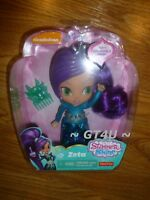 """Shimmer and Shine ZETA 6"""" Doll 6 Inches Purple Hair Genie Comb Nickolodean"""
