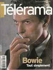 TELERAMA JUIN 2002 DAVID BOWIE