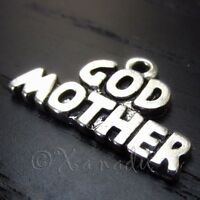 Godmother Wholesale Antiqued Silver Plated Charm Pendants C5630 - 5, 10, 20PCs