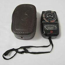 Vintage General Electric DW-48 Exposure Meter Model 8DW48Y6 with Leather Case