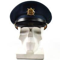 Original Czech army peaked cap. Air forces military parade cap with badge
