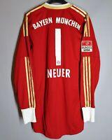 FC BAYERN MUNICH MUNCHEN 2012 2013 PLAYER ISSUE JERSEY MATCH WARN #1 NEUER