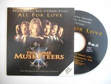 THE THREE MUSKETEERS : ALL FOR LOVE [ CD SINGLE PORT GRATUIT ]