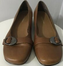 Naturalizer Tan Ballet Flat With Buckle Size 8M