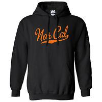 Nor Cal Script & Tail HOODIE - Hooded California Republic Sweatshirt  All Colors