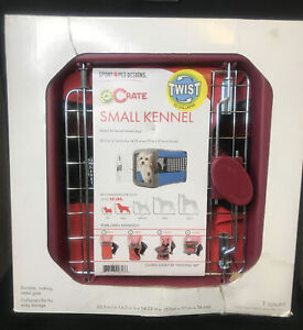 Sport Pet Designs Pop Crate Small Kennel For Dog Up 25 Lbs Twist To Collapse Red