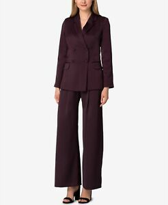 Tahari ASL Double-Breasted Wide-Leg Pantsuit MSRP $310 Size 4 # 6A 752 NEW