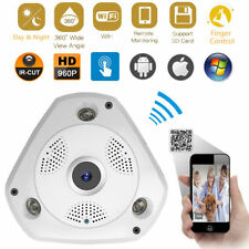 Fisheye Panoramic VR IP WIFI Wireless 360 Degree 3D 1.3Mp Network CCTV Camera