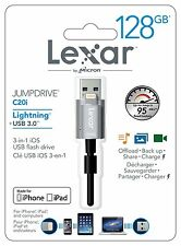 Pendrive para iPhone y iPad Lexar 128GB Dual Lightning y USB JumpDrive C20i GB