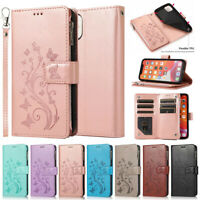 For iPhone 12 Pro Max 11 8 7 6s Plus Case Flip Leather Zipper Card Wallet Cover