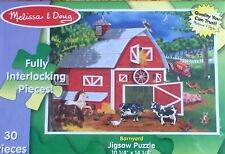 NEW SEALED Melissa & Doug Barnyard Jigsaw Puzzle 30 Pieces Ages 5+ Yrs
