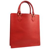 LOUIS VUITTON SAC PLAT PM HAND TOTE BAG PURSE RED EPI M5274E RI0034 AK41736
