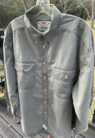 Vtg Levis Green Tag Label Mens XL Khaki GreenShirt Button Down Long Sleeves