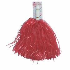 Red High School Cheerleader PomPoms Cheer Leader Costume Accessory
