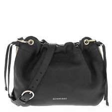 e6f1e8d65a29 Burberry Women s Grainy Leather and House Check Crossbody Bag Black
