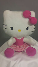Hello Kitty Hearts and More Hearts Plush Pink Heart Skirt and Hair bow Stuffed