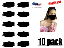 Unisex Washable ,Reusable ,stretchable Face mask with Filter Pocket 10 pack Usa