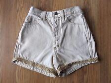 Vintage DANGER  90s Jean Shorts High Waisted Appliqued Legs Denim Size 5/6