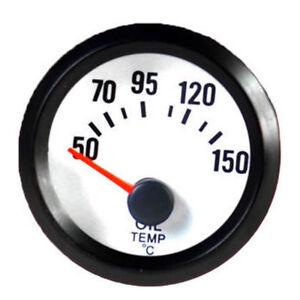 """2"""" 52mm NEU KFZ Universal LED Licht Anzeige Öltemperatur Instrument/Instrumente"""