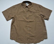 Columbia Shirt L Mitchell Canyon Check Brown XCO Outdoors Camp Short Sleeves New