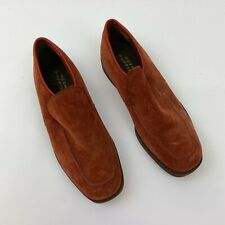 Hush Puppies Orange Suede Slip On Loafers UK 8 Rubber Crepe Soles