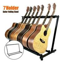Foldable 7 Way Multi Guitar Stand Acoustic Electric Bass Guitar Iron&Rubber Rack
