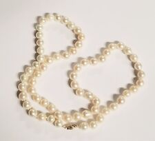 Japanese Akoya Baroque Cultured Pearl Necklace 8.5-8.74MM 24 Inch 14k Gold Clasp