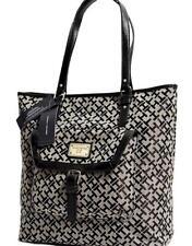 New Tommy Hilfiger Black Large Shopper Tote Bag