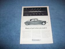 "1964 Citroen Vintage Ad ""Plenty of Pull When You Need It"""