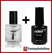 TOP COAT LUCIDO 15ml sigillante unghie NDED + BASE COAT 15ml NDED smalto