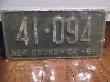 1951 NEW BRUNSWICK LICENSE PLATE 41 094