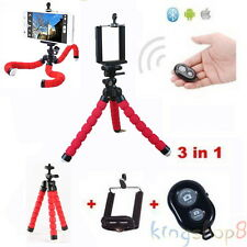 Flexible Tripod Octopus +Bluetooth Remote Control For iPhone HTC LG CellPhone