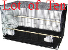 "New Lot of Ten Breeding Aviary LoveBird Breeder Bird Cages 20x14x14""H Blk"