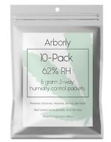 62% Humidity Control Packs - 10 Pack, 8 grams - All-Natural 2-Way Packets