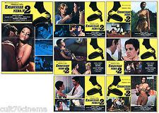 EMANUELLE NERA N°2 SET FOTOBUSTA 6+1 PZ. SEXY EROTICO ITALIA 1976 LOBBY CARD