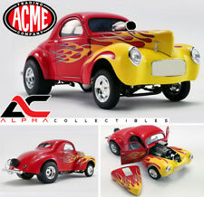 ACME A1800916 1:18 1941 WILLYS GASSER RED W/FLAMES LTD 408 PCS