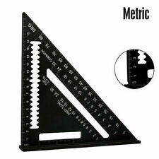 7'' Aluminum Speed Square - Triangle Ruler Protractor Miter Framing Measuring