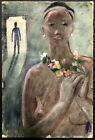 MID-CENTURY Modern ~ SURREALIST NUDE ~ John McClellan 1953 WOODSTOCK ARTIST