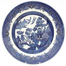 VINTAGE Churchill Willow Pattern Blu Bianco Piatto