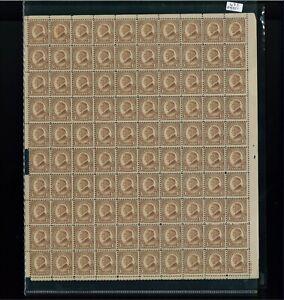 1927 États-unis Envoi Tampon #633 Plaque Numéro 19181 Mint Complet Feuille