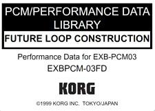 KORG EXB-PCM03 FUTURE LOOP CONSTRUCTION Factory Preload Disk Triton EXB PCM-03FD