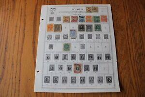 M46 Lot of Ecuador Stamps on 8 Minkus binder Pages