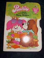 """Poochie a colorful coloring book """"Many Mottos"""" Unused Golden 1983"""